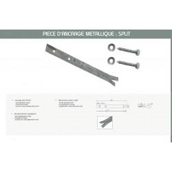 Set de  6 pièces d'ancrage métalliques SPLIT