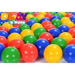 Set de 100 balles plastiques multicouleurs