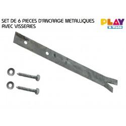 Set : 6 pcs d'ancrage métalliques SPLIT