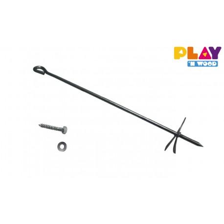 Set : 6 pièces d'ancrage métalliques smart line et tête rond